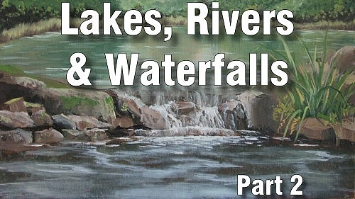 how to paint lakes, rivers, waterfalls oil