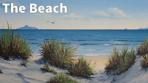 how to paint sea in acrylic