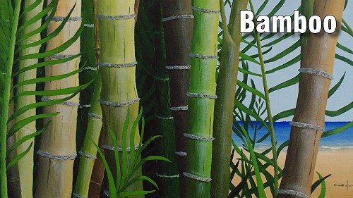 how to paint bamboo in acrylics