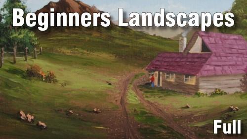 beginners landscapes oil
