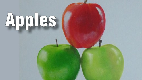 how to paint apples acrylic