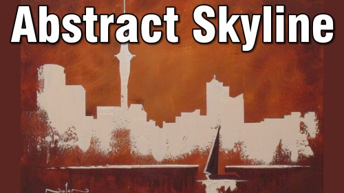 how to paint abstract skyline in oil