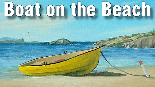 how to paint a boat on the beach in oil