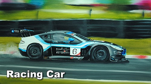 how to paint a racing car in oil