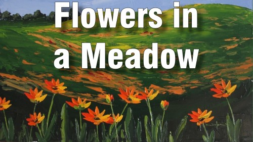 how to paint flowers meadow oil