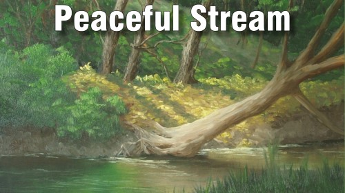 how to paint peaceful stream oil