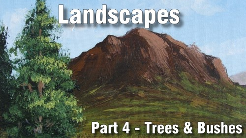 how to paint tree bushes landscapes oil