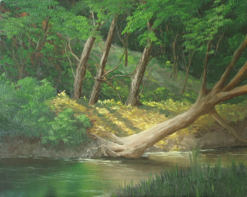 how to paint a peaceful stream