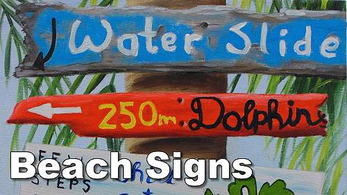 how to paint beach signs old wood