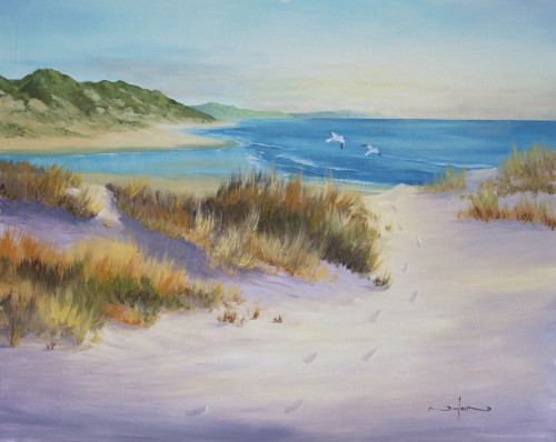 how to paint sand dunes on the beach seascape oil acrylic