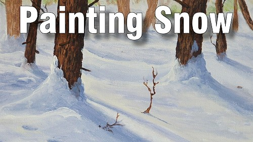 how to paint snow oil