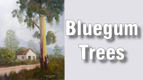 how to paint trees oil