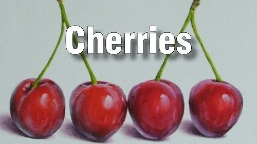 how to paint cherries oil