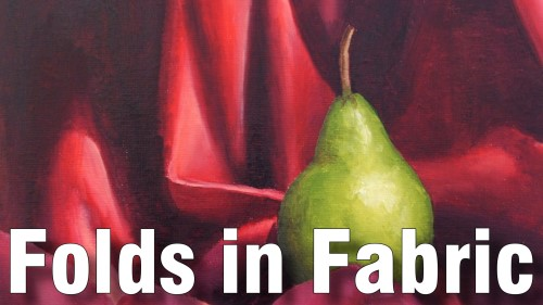 how to paint folds in fabric oil