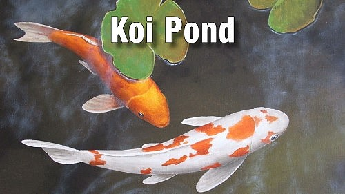how to paint koi pond oil