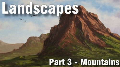 how to paint mountains oil