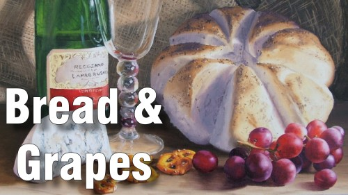 how to paint grapes bread oil