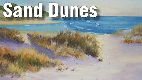 how to paint sand dunes oil