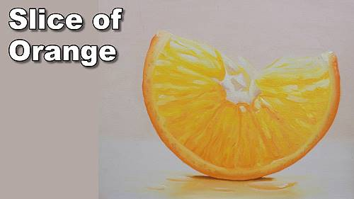 how to paint an orange in oil