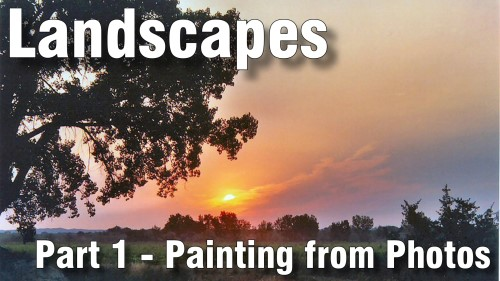 how to paint landscapes from photos