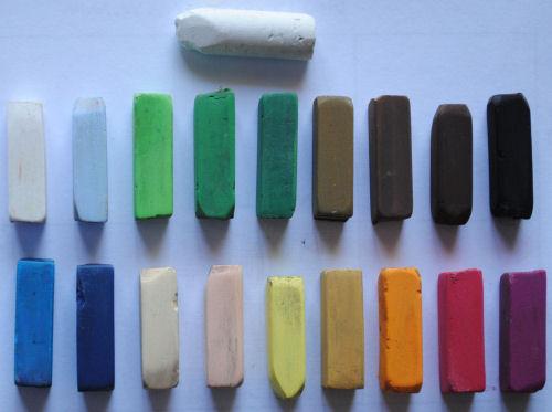pastels used