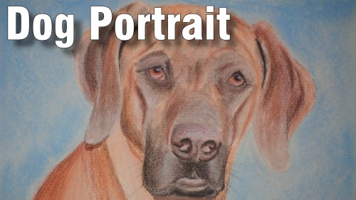 how to draw dog portrait pastel