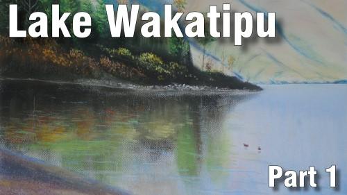 how to draw lake wakatipu part 1 pastel