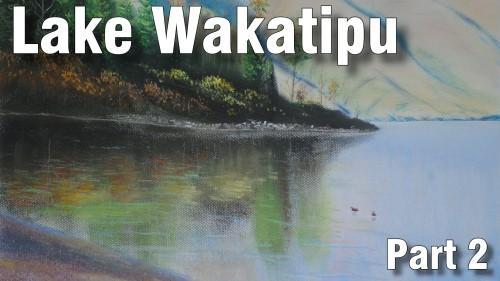 how to draw Lake wakatipu part 2 pastel