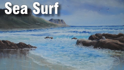 how to draw sea surf in pastel