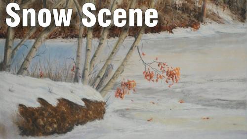 how to draw snow scene pastel