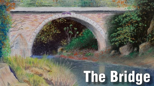 how to draw the bridge pastel