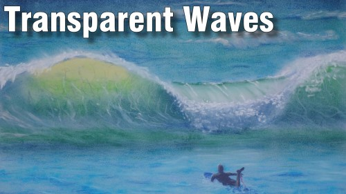 how to draw transparent waves pastel