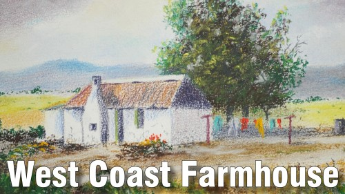 how to draw west coast farmhouse pastel