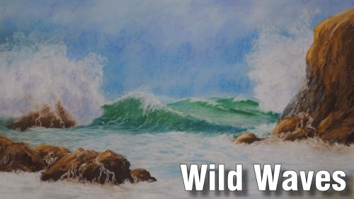 how to draw wild waves pastel