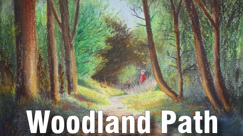 how to draw woodland path pastel