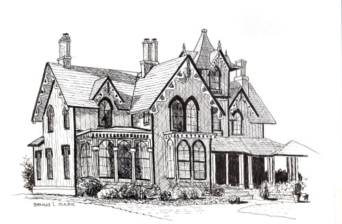 Pen House Drawing How to Draw a Beautiful House