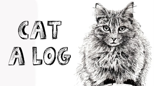 how to draw a cat on a log pen and ink