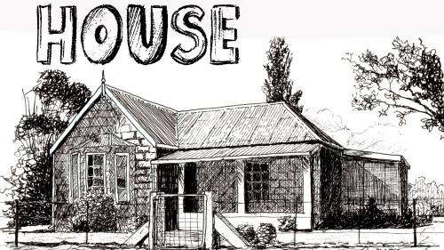 Pen House Drawing How to Draw a Farmhouse in Pen