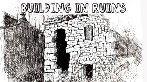 how to draw a building in ruins pen and ink