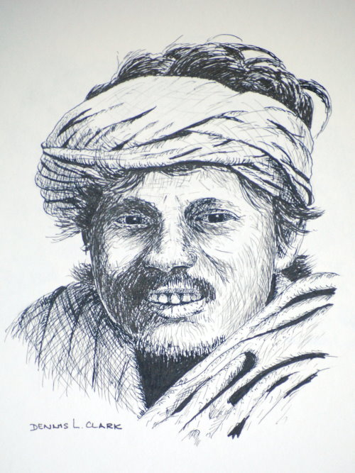 How to draw a snake charmer in pen and ink online art lessons how to draw a snake charmer in pen and ink ccuart Image collections
