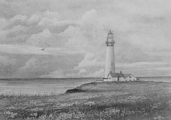 lighthouse drawing tutorial