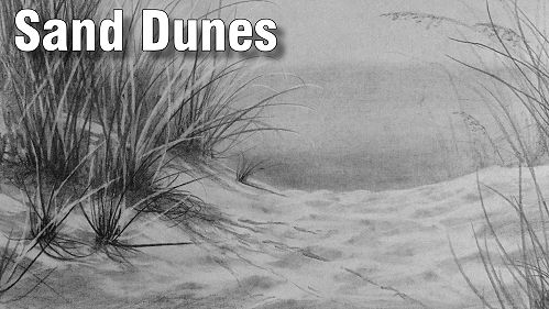 how to draw sand dunes in pencil