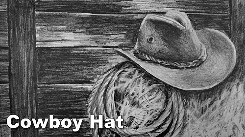 how to draw a cowboy hat still life