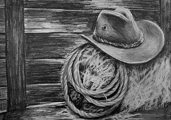 how to draw hats cowboy rope straw