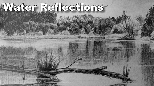 how to draw water reflections