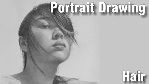 how to draw pencil portrait_hair