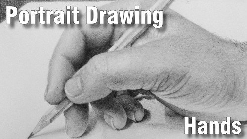 how to draw pencil portrait_hands
