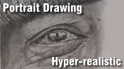 how to draw pencil portrait_hyper_realistic_drawing