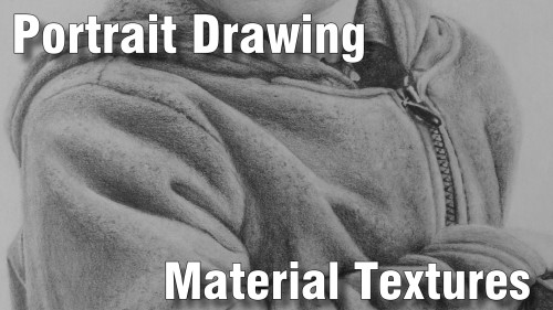 how to draw pencil portrait_material_textures