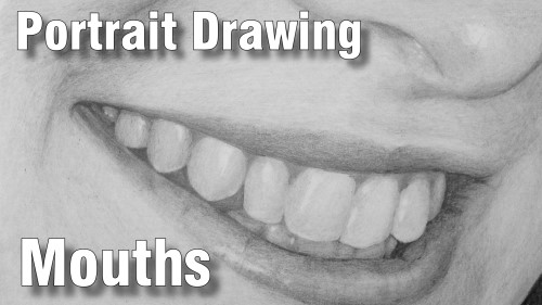 how to draw pencil portrait_mouths